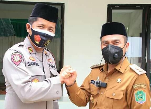 Polsek Kualuh Hulu Berikan Pengamanan Haul Ke 3 Tuan Guru Khalifah Khaidir Munthe