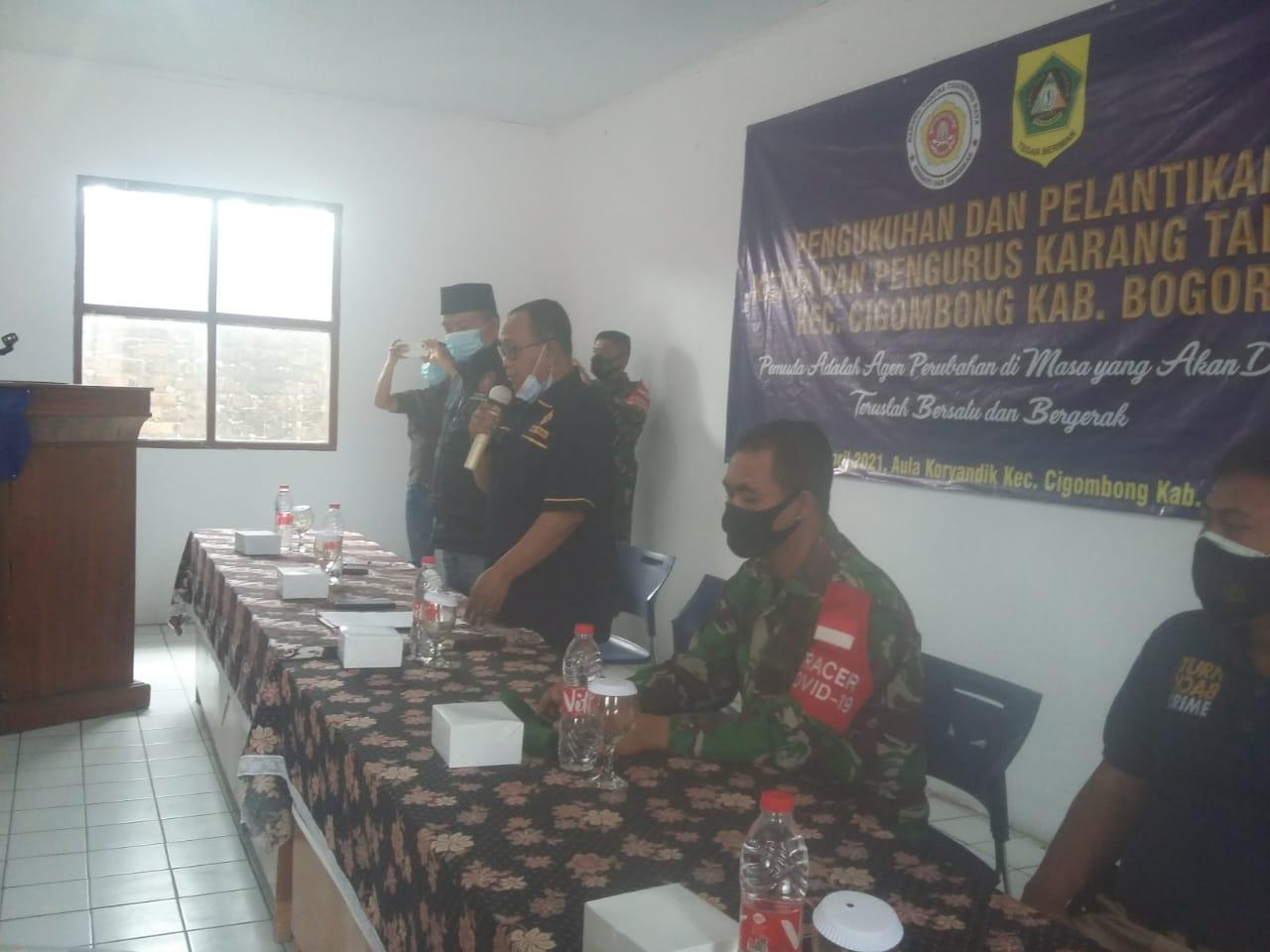 Pelantikan Kepengurusan Karang Taruna Kecamatan Cigombong Masa Bhakti 2021-2026