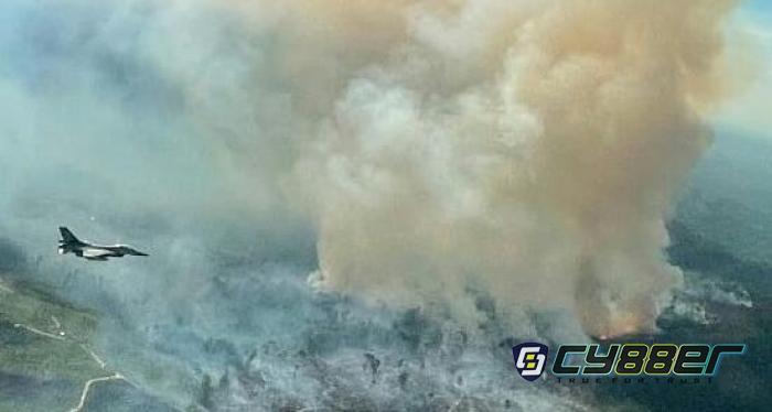 Pesawat F-16 Lanud Roesmin Nurjadin Temukan Titik Api di Koto Tuo Kampar