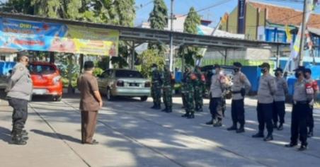 Kecamatan Bayongbong Garut Gelar Apel Gabungan Pengamanan Pelantikan Kepala Desa