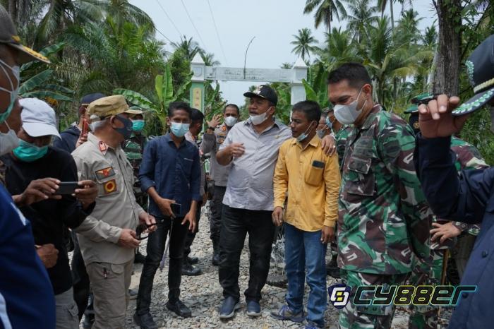 Forkopimda Asahan Tinjau Jalan Karya Bakti TNI AD di Kecamatan Sei Kepayang