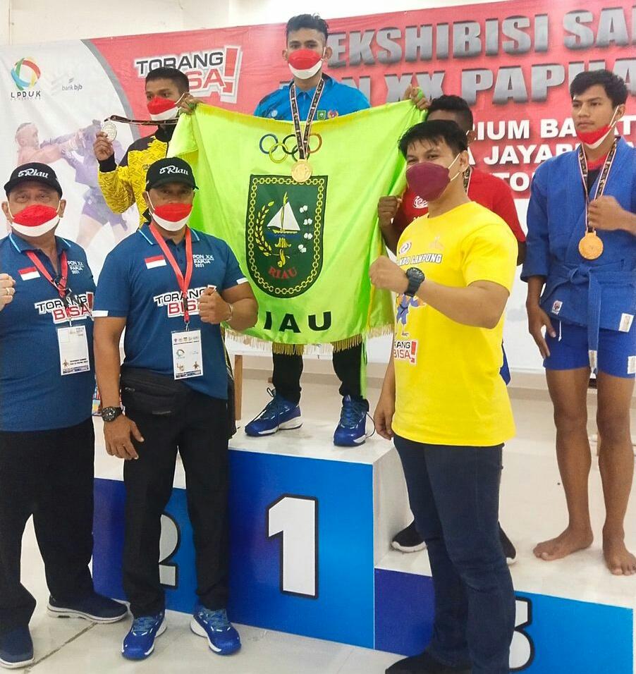 Tiga Atlet Sambo Pekanbaru Yang Berangkat ke Papua Boyong Empat Medali Emas dan Satu Medali Perak