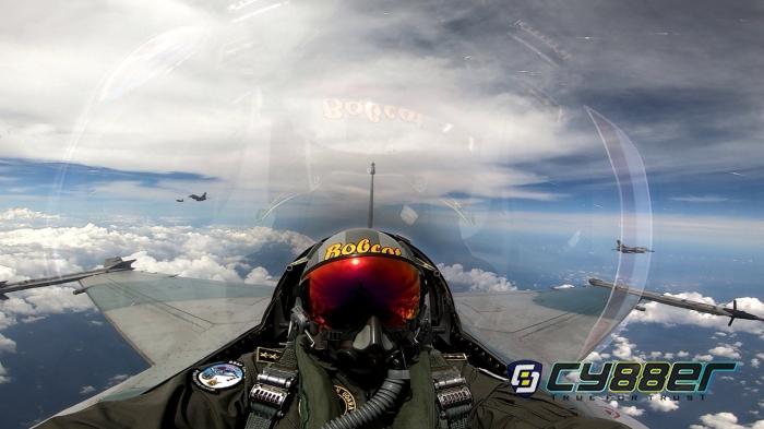 Meet In The Air 9 Pesawat F-16 dan CAF RSAF di Langit Lancang Kuning