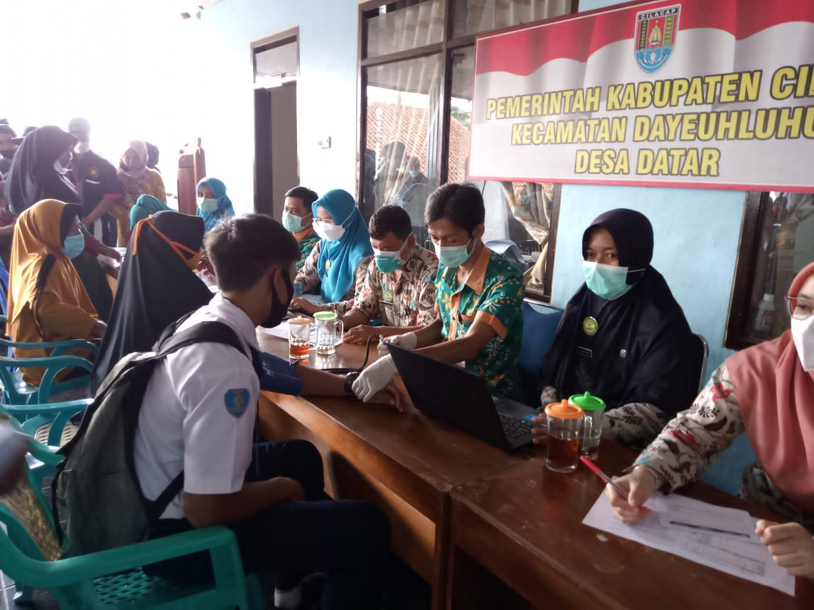 Pelaksanaan Vaksinasi di Kecamatan Dayeuhluhur Terus di Kebut