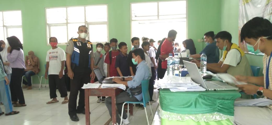 Kapolsek Warungkiara Polres Sukabumi : Kegiatan Vaksin di Desa Wangunjaya Hari Ini Melebihi Target