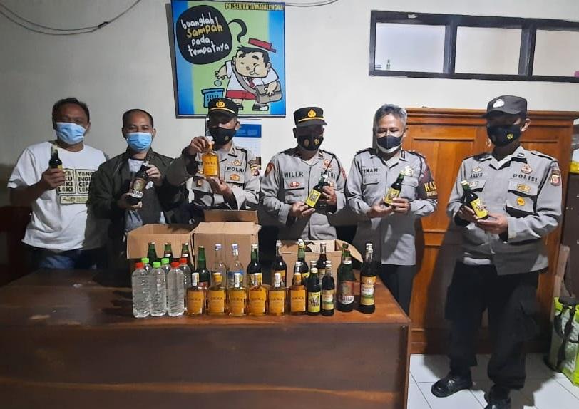 Jelang Ramadhan, Ratusan Botol Miras Berbagai Jenis Diamankan Jajaran Polres Majalengka Polda Jabar