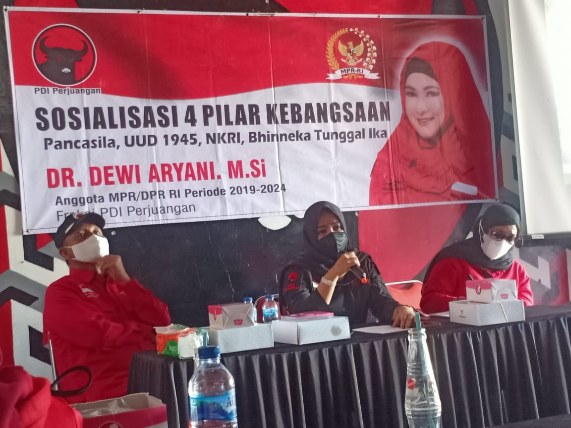 Sosialisasi 4 Pilar, Dewi Aryani Ingatkan Kader untuk Gotong-Royong Hadapi Pandemi Covid-19