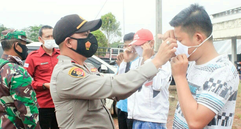 Ops Aman Nusa II Pelaksanaan Penanganan COVID-19 Oleh Polsek Keluang