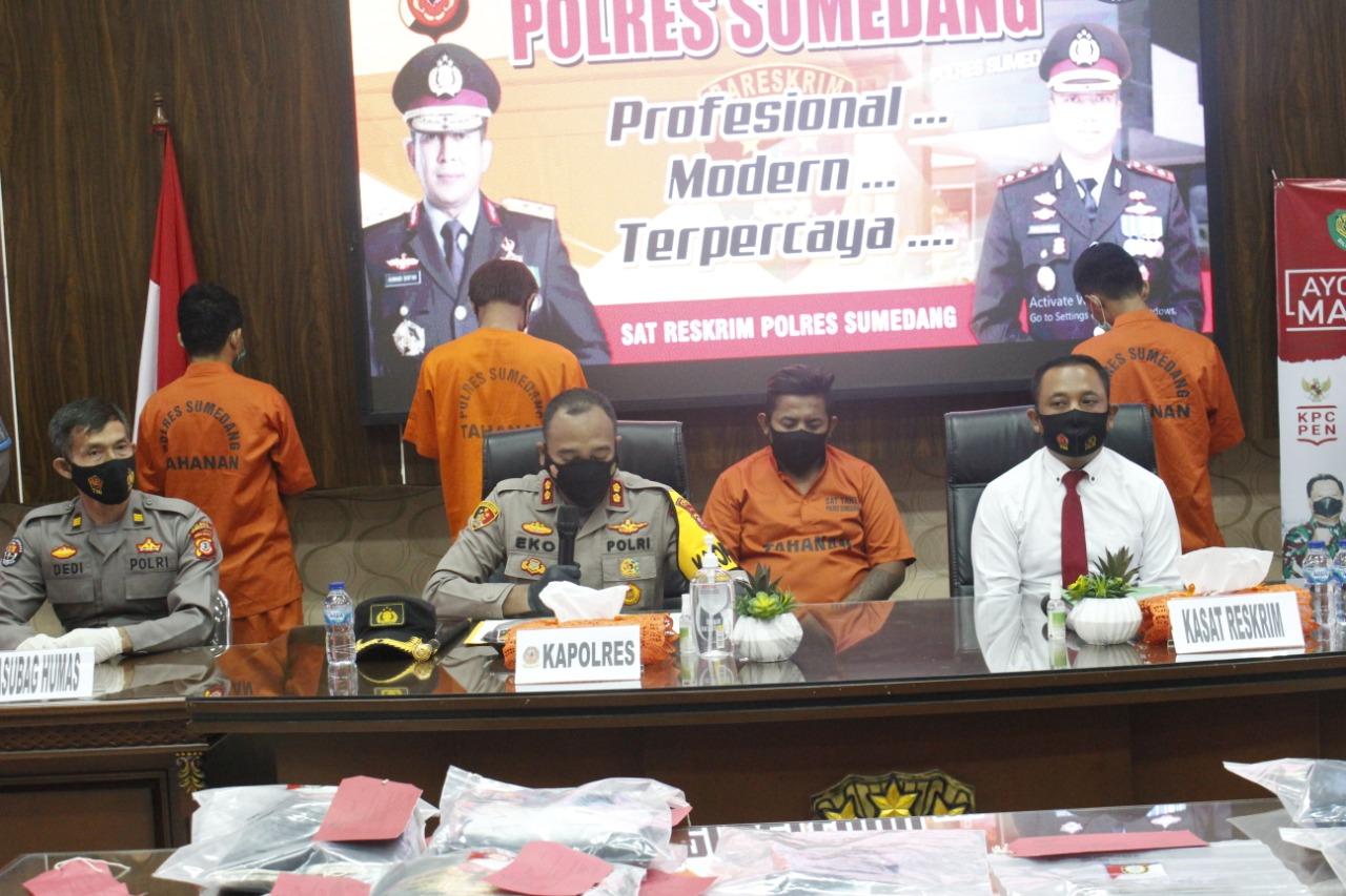 Setelah 5 Hari DPO, Tersangka W alias Black, Akhirnya Ditangkap Satuan Serse Polres Sumedang
