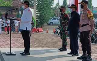 Operasi Ketupat 2021, Kapolres Sumedang Laksanakan Upacara Gelar Pasukan