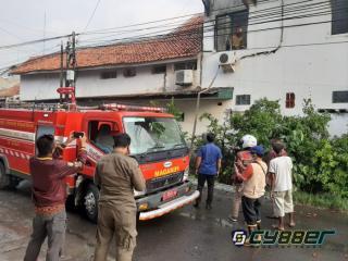 Diduga Konsleting Listrik, Perumahan Warga Padat Penduduk di Kota Tegal Terbakar