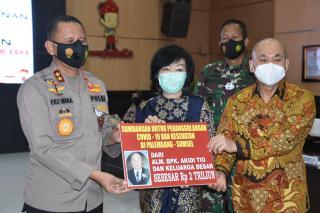 Pengusaha asal Aceh Beri Hibah 2 Triliun ke Polda Sumsel untuk Penanganan Covid 19