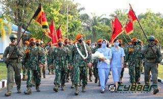 Prosesi Tradisi Passing In Parade Penyambutan Danyoko 462 Paskhas