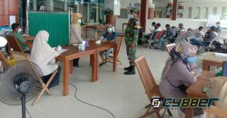 Babinpotdirga Lanud Rsn Pantau Vaksinasi di Bandara