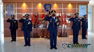 Danyonko 462 Paskhas Ikuti Upacara Hari Bakti ke -74 TNI AU Secara Virtual