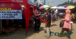 Paket Sembako dan Masker Bagikan ke Warga Baros Kabupaten Serang