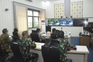 Kaposek Kosekhanudnas III bersama Forkopimda Hadiri Peluncuruan Aplikasi ASAP