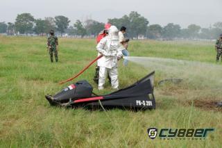 Lanud Sulaiman Adakan Latihan Crash Landing Pesawat