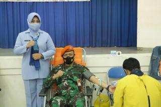 Pusdiklat Paskhas Melaksanakan Donor Darah