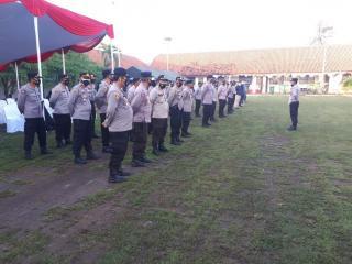 Polres Serang Banten Gelar Apel Pengamanan VVIP RI 2 di Ponpes An Nawawi