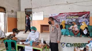 Polri Bersama TNI Pantau Gerai Vaksinasi Presisi di Wilayah Desa Bojongkunci