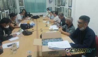 Rapat Perdana Pembentukan Panitia Natal Wartawan 2021 di Sekretariat PWI Pekanbaru