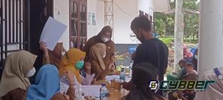 Keluarga karyawan PTPN III Ikut Melakukan Vaksinasi Covid-19 Tahap 1, di Desa Perkebunan Labuhan Haji