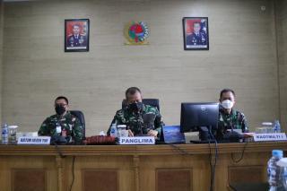 Pangkosekhanudnas III Menerima Tim Itjen TNI