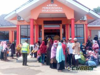 Warga Desa Cikoneng Sangat Antusias untuk Laksanakan Vaksin