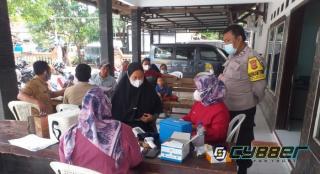 Monitoring Vaksinasi, Polisi Himbau Warga Terapkan Prokes