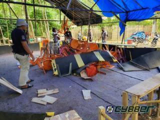 Penjudi Sabung Ayam di Kebun Karet Kocar Kacir Saat Digrebek Polisi