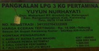 Disinyalir Pangkalan LPG di Desa Kalangsari Menjual Gas Melon Diatas HET