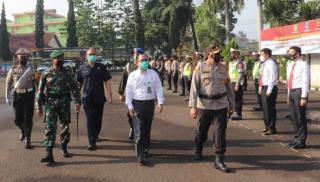 Polres Garut Apel Gelar Pasukan Ops Ketupat Lodaya 2021
