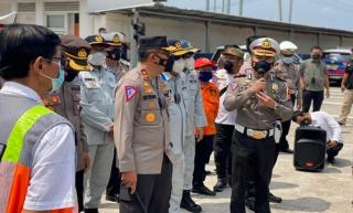 Kakorlantas Polri Tinjau Skema Penyekatan Larangan Mudik di Wilayah Polresta Cirebon
