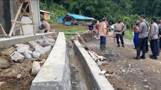 Kapolres Sumedang Tinjau Lokasi Pembangunan Pos Polair