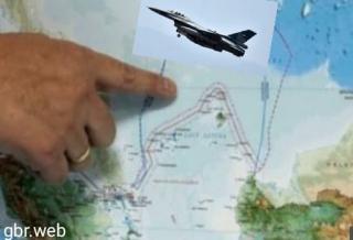 Sebuah Pesawat Tempur Asing Terbang Rendah di Kepulauan Natuna