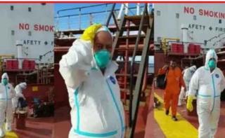 ABK Kapal M.T. ARK Progress Berbendera India Positif Corona, Kapolres Dumai Turunkan Satgas Covid 19