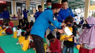 Kampung Siaga Bencana Kecamatan Angsana Santuni 50 Yatim Piatu