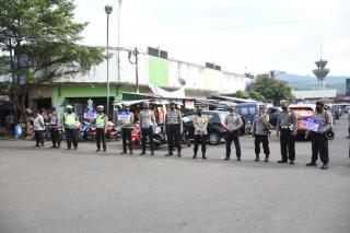 Mendatangi Pasar Subuh, Kapolres Banjar Beserta Kasat Imbau PPKP