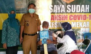 Sebanyak 200 Lansia Lakukan Vaksinasi Covid-19 Tahap I di Desa Mekar Jaya